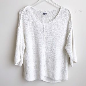 Aerie White knit sweater top